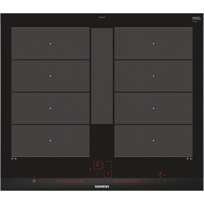 siemens induction hob ex675lyc1e flexinduction plus 60 cm. Black Bedroom Furniture Sets. Home Design Ideas