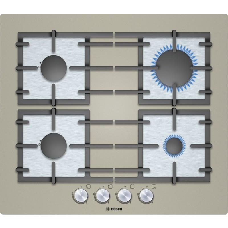 table de cuisson gaz bosch ppp618b91e verre quartz champagne 60 c. Black Bedroom Furniture Sets. Home Design Ideas