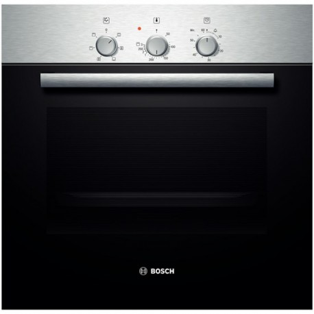 BOSCH ELECTRIC VENTILATED CONVECTION OVEN HBN211EOJ STAINLESS STEEL AND BLACK GLASS  60 CM EEC A