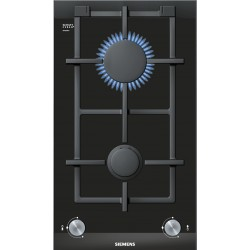 SIEMENS DOMINO GAS HOB 2 BURNERS ER326BB70E BLACK CERAMIC GLASS 30 CM