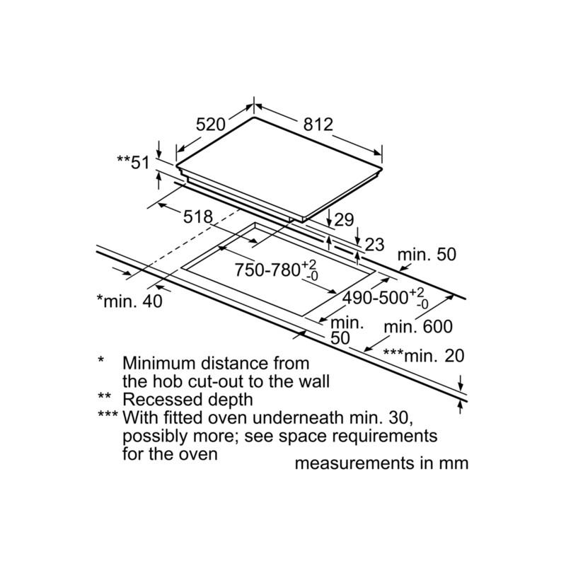 Siemens induction hob eh875mp17e flexinduction 80 cm fab - Table a induction siemens ...