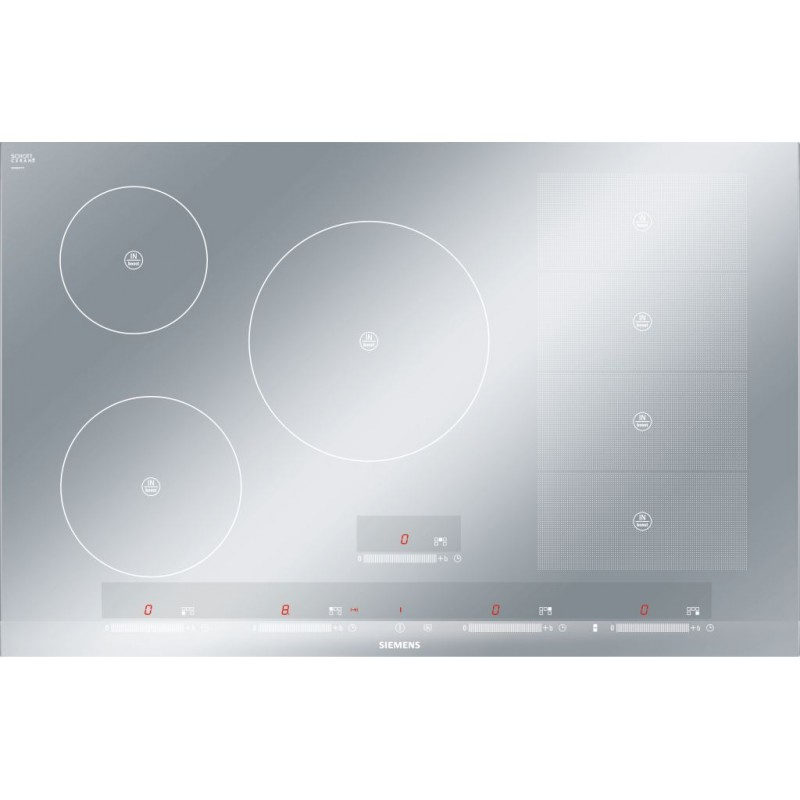 Siemens induction hob eh879sp17e flexinduction metal look - Plaque induction blanche ...