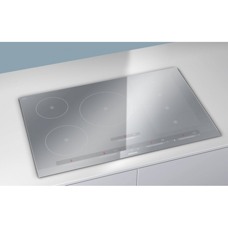 siemens induction hob eh879sp17e flexinduction metal look 80 cm fa. Black Bedroom Furniture Sets. Home Design Ideas