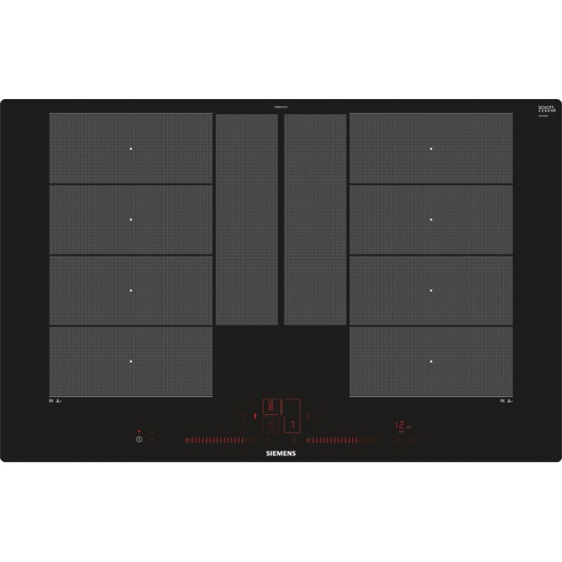 Siemens induction hob ex801lyc1e flexinduction plus 80 cm for Table induction 90 cm