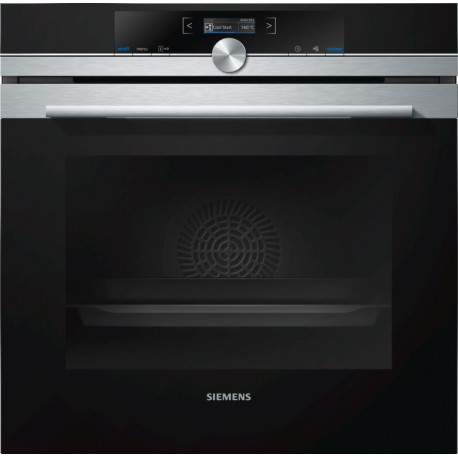SIEMENS ELECTRIC CONVECTION THERMOVENTILATED OVEN HB633GBS1J STAINLESS STEEL AND BLACK GLASS 60 CM EEC A+
