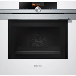 SIEMENS ELECTRIC THERMOVENTILATED OVEN WITH MICROWAVE HM636GNW1 STAINLESS STEEL AND WHITE GLASS  60 CM