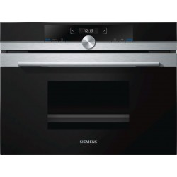 SIEMENS ELECTRIC COMPACT STEAMER OVEN CD634GBS1 STAINLESS STEEL AND BLACK GLASS 60x45 CM