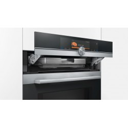 SIEMENS COMPACT ELECTRIC CONVECTION OVEN WITH STEAM CS658GRS6 STAINLESS STEEL AND BLACK GLASS 60 CM EEC A+