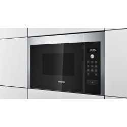 SIEMENS BUILT-IN MICROWAVE HF15M564 STAINLESS STEEL AND BLACK GLASS FRAMELESS