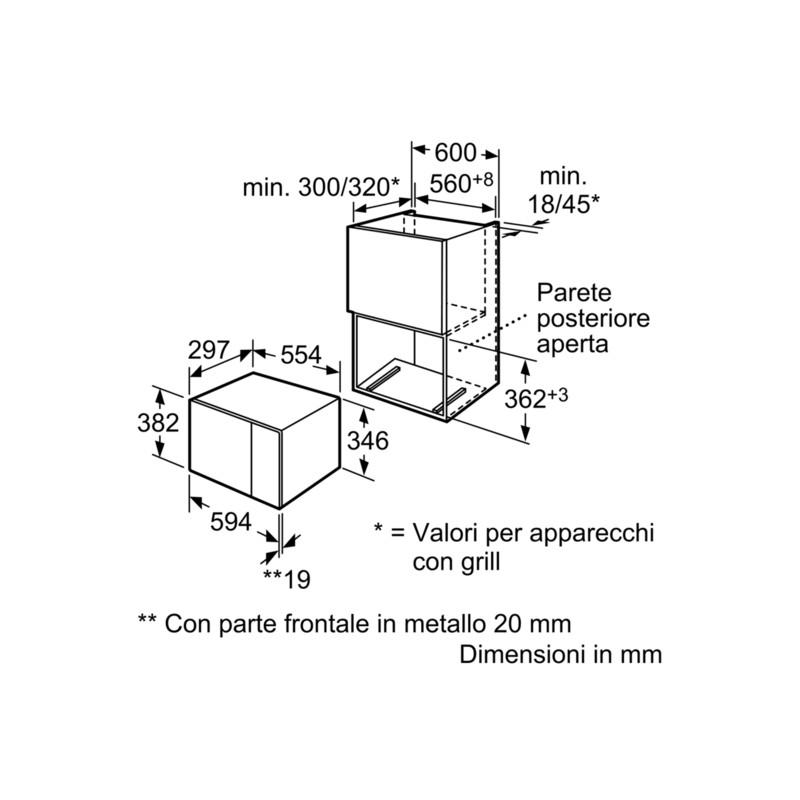 FOUR Á MICRO-ONDES ENCASTRABLE SIEMENS HF15M564 ACIER INOX ET VERRE...