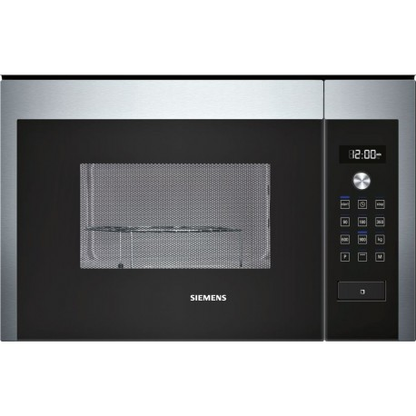 SIEMENS BUILT-IN MICROWAVE WITH GRILL HF24G564 STAINLESS STEEL AND BLACK GLASS FRAMELESS