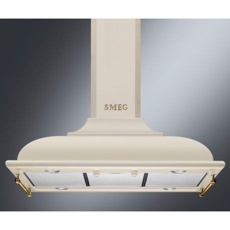 SMEG ISLAND DECORATIVE HOOD KCI19POE CREAM AESTHETIC CORTINA 90 CM EEC B