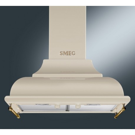 SMEG WALL MOUNTED CHIMNEY HOOD KC16POE CREAM AESTHETIC CORTINA 60 CM EEC A