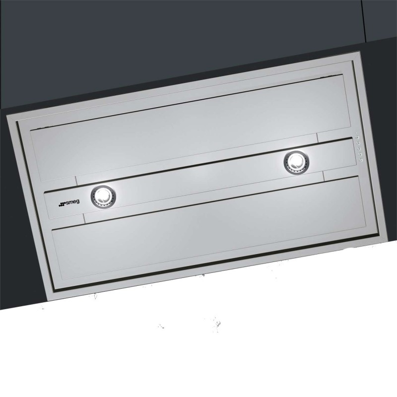 hotte encastrable plafond smeg kseg90xe acier inox 90 cm. Black Bedroom Furniture Sets. Home Design Ideas