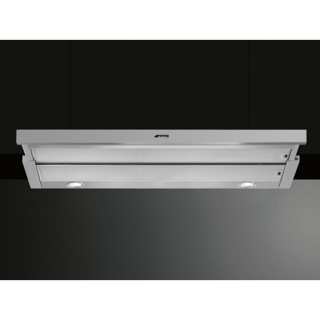 smeg integrated telescopic hood kset900hxe stainless steel 90 cm