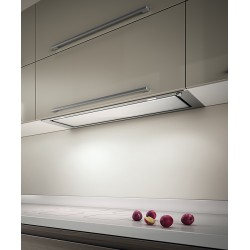 ELICA FILO INTEGRATED HOOD STAINLESS STEEL AND WHITE GLASS