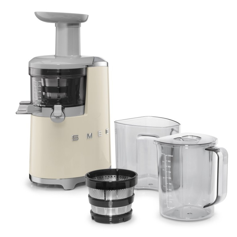 Making Ice Cream With Slow Juicer : SMEG SLOW JUICER 50 S STYLE CREAM SJF01CREU FAB Appliances