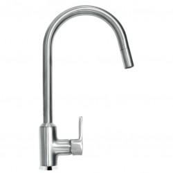 SCHOCK AQUADIVA SINGLE LEVER KITCHEN SINK MIXER TAP WITH PULL OUT SPRAY CHROME BRUSHED