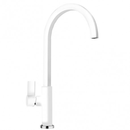 SCHOCK NEW AQUAARCO SINGLE LEVER KITCHEN SINK MIXER TAP PURE WHITE
