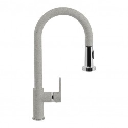 SCHOCK AQUAALTO SINGLE LEVER SINK MIXER TAP WITH PULL OUT SPRAY ALUMINIA
