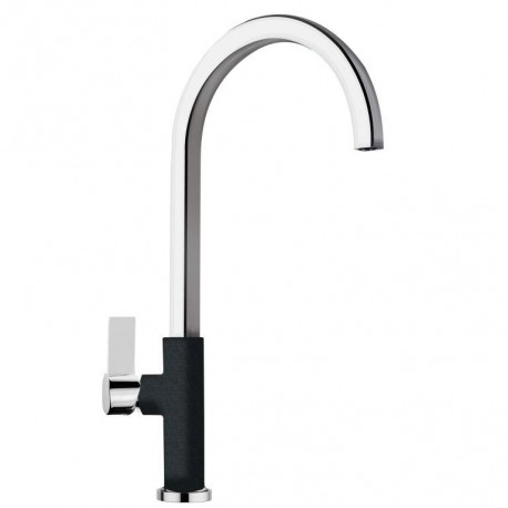 SCHOCK NEW AQUAARCO SINGLE LEVER KITCHEN SINK MIXER TAP CHROME AND ANTHRACITE