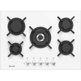 SMALVIC GAS HOB PC-MF70 4GTC VS WHITE GLASS - 70 CM