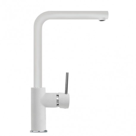SCHOCK AQUATREND SINGLE LEVER KITCHEN SINK MIXER TAP WHITE ALPINA