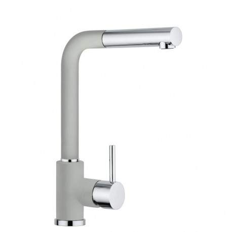 SCHOCK AQUAVIVA SINGLE LEVER KITCHEN SINK MIXER TAP WITH PULL OUT SPRAY CHROME AND ALUMINIA
