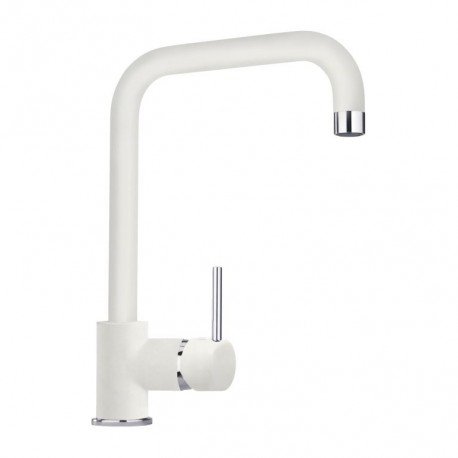 SCHOCK AQUATOP SINGLE LEVER KITCHEN SINK MIXER TAP WHITE ALPINA