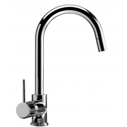 SCHOCK AQUAPLAN UNDER WINDOW KITCHEN SINGLE LEVER SINK MIXER TAP WITH PULL OUT SHOWER CHROME