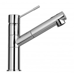 SCHOCK NEW AQUAFLEX SINGLE LEVER KITCHEN SINK MIXER TAP WITH PULL OUT SPRAY CHROME