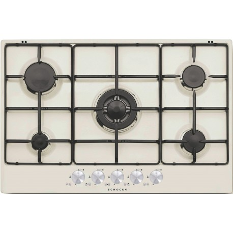 SCHOCK GAS HOB SILVER PC75AV CREAM 75 CM