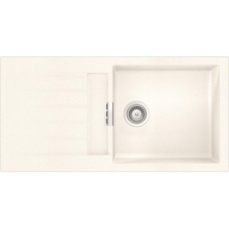 SCHOCK KITCHEN SINK SIGNUS D100L - 1 BOWL CRISTADUR PURE WHITE