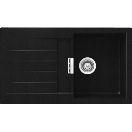SCHOCK KITCHEN SINK SIGNUS D100 - 1 BOWL CRISTADUR PURE BLACK