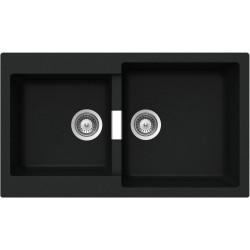 SCHOCK KITCHEN SINK SIGNUS N200 - 2 BOWLS CRISTADUR PURE BLACK