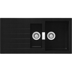 SCHOCK KITCHEN SINK SIGNUS D150 - 1.5 BOWL CRISTADUR PURE BLACK