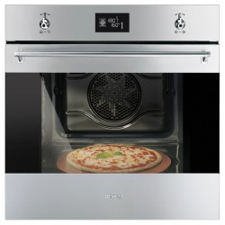 SMEG MULTIFUNCTION PIZZA OVEN SF6390XPZE CLASSIC AESTHETIC STAINLESS STEEL 60 CM