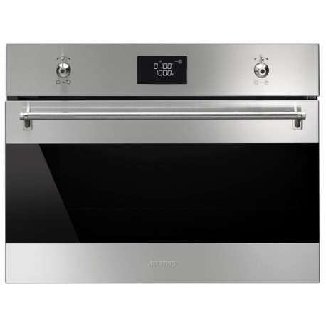 SMEG COMPACT COMBI MICROWAVE OVEN SF4390MCX STAINLESS STEEL 60x45 CM