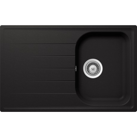SCHOCK KITCHEN SINK LITHOS D100S - 1 BOWL CRISTALITE ANTHRACITE