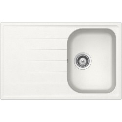 SCHOCK KITCHEN SINK LITHOS D100S - 1 BOWL CRISTALITE WHITE ALPINA