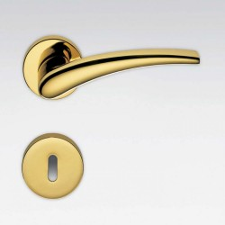 COLOMBO DESIGN DOOR HANDLES PAIR BLAZER SERIES ON ROSE MADE IN ITALY