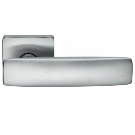 COLOMBO DESIGN DOOR HANDLES PAIR BOLD PT11 SERIES ON ROSE MADE IN ITALY