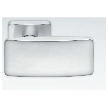 COLOMBO DESIGN DOOR HANDLES PAIR BOLD PT15 SERIES ON ROSE MADE IN ITALY