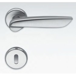 COLOMBO DESIGN DOOR HANDLES PAIR DAYTONA SERIES ON ROSE MADE IN ITALY