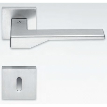COLOMBO DESIGN DOOR HANDLES PAIR DEA SERIES ON ROSE MADE IN ITALY