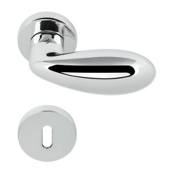 COLOMBO DESIGN DOOR HANDLES PAIR DROP SERIES ON ROSE MADE IN ITALY