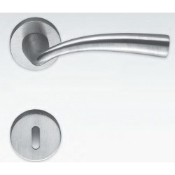 COLOMBO DESIGN DOOR HANDLES PAIR EDO SERIES ON ROSE MADE IN ITALY