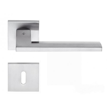 COLOMBO DESIGN DOOR HANDLES PAIR ELECTRA SERIES ON ROSE MADE IN ITALY