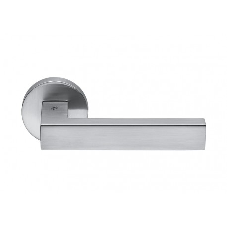 COLOMBO DESIGN DOOR HANDLES PAIR ELLE SERIES ON ROSE MADE IN ITALY