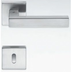 COLOMBO DESIGN DOOR HANDLES PAIR ELLESSE SERIES ON ROSE MADE IN ITALY